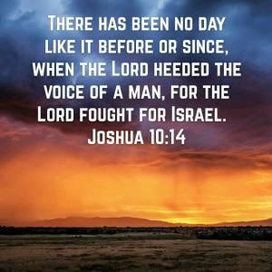 Joshua10.14