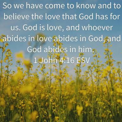 1 John 4-16 esv