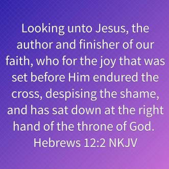 Hebrews 12-2 NKJV